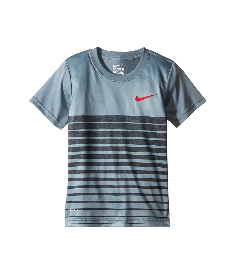 Nike Kids - Heather Stripe Dri-Fit Tee (Little Kids) (Cool Grey) Boy's T Shirt