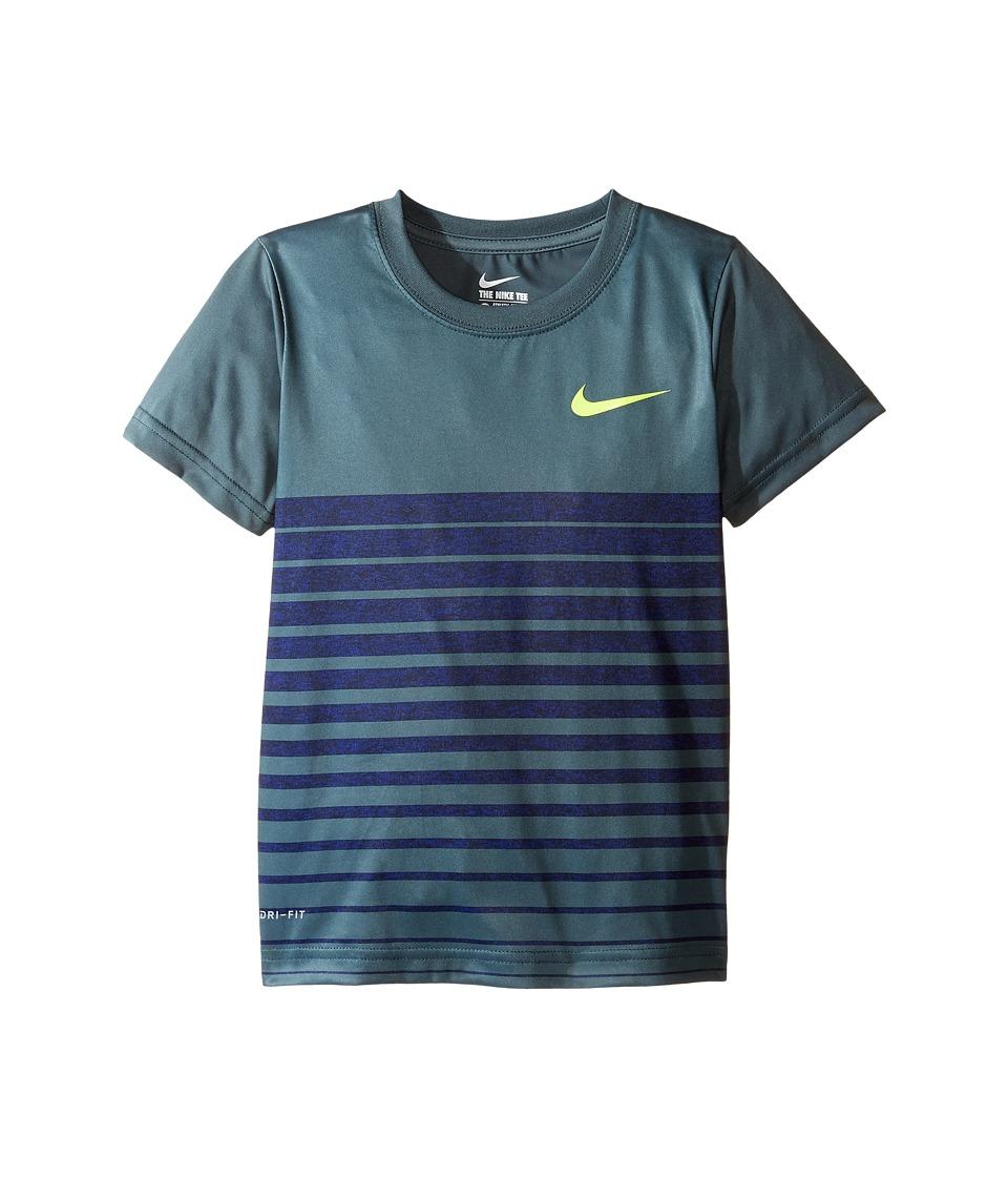 Nike Kids - Heather Stripe Dri-Fit Tee (Little Kids) (Hasta) Boy's T Shirt