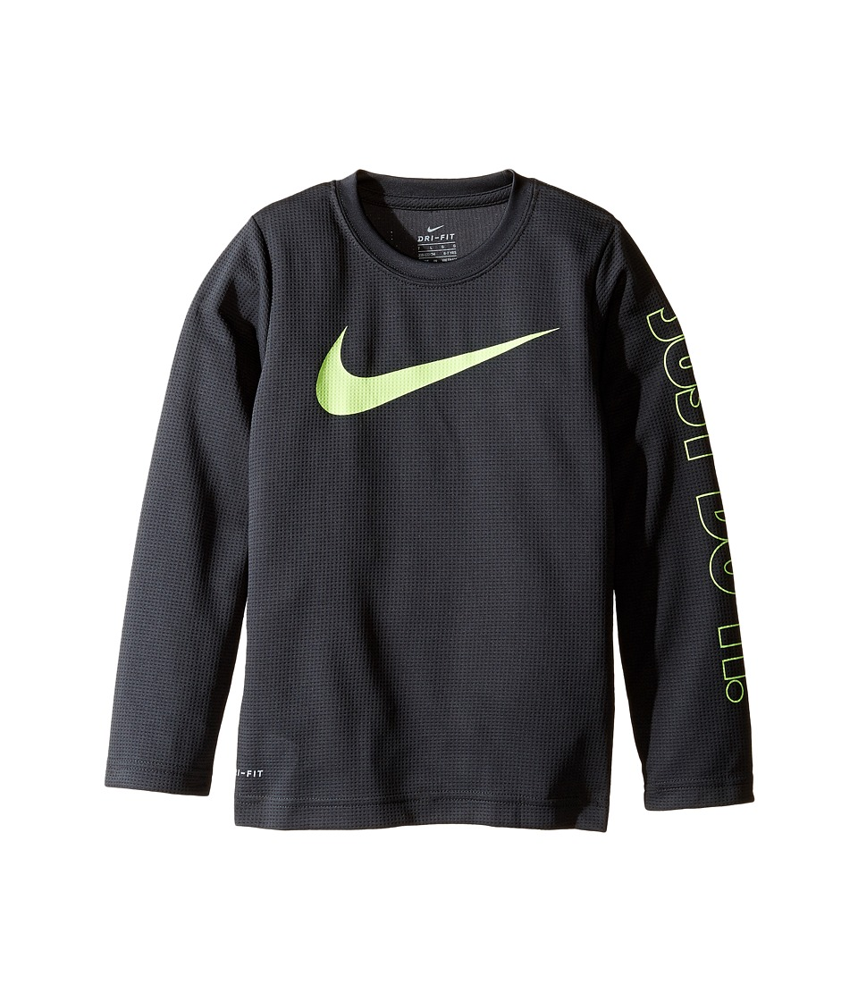 Nike Kids - Swoosh Just Do It Dri-Fit Tee (Little Kids) (Anthracite) Boy's T Shirt
