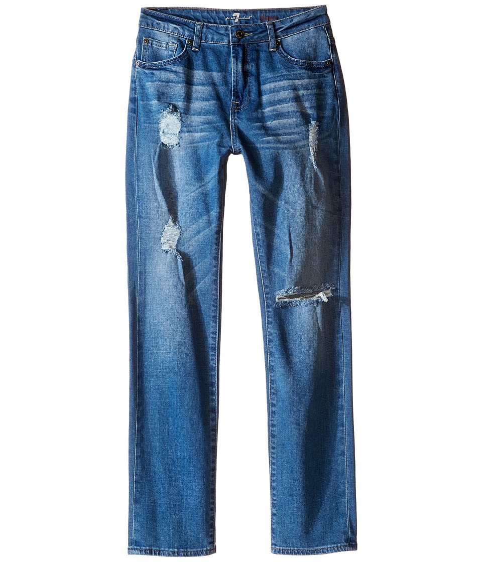 7 For All Mankind Kids - Slimmy Slim Straight Stretch Denim Jeans in Eastern Light (Big Kids) (Eastern Light) Boy's Jeans