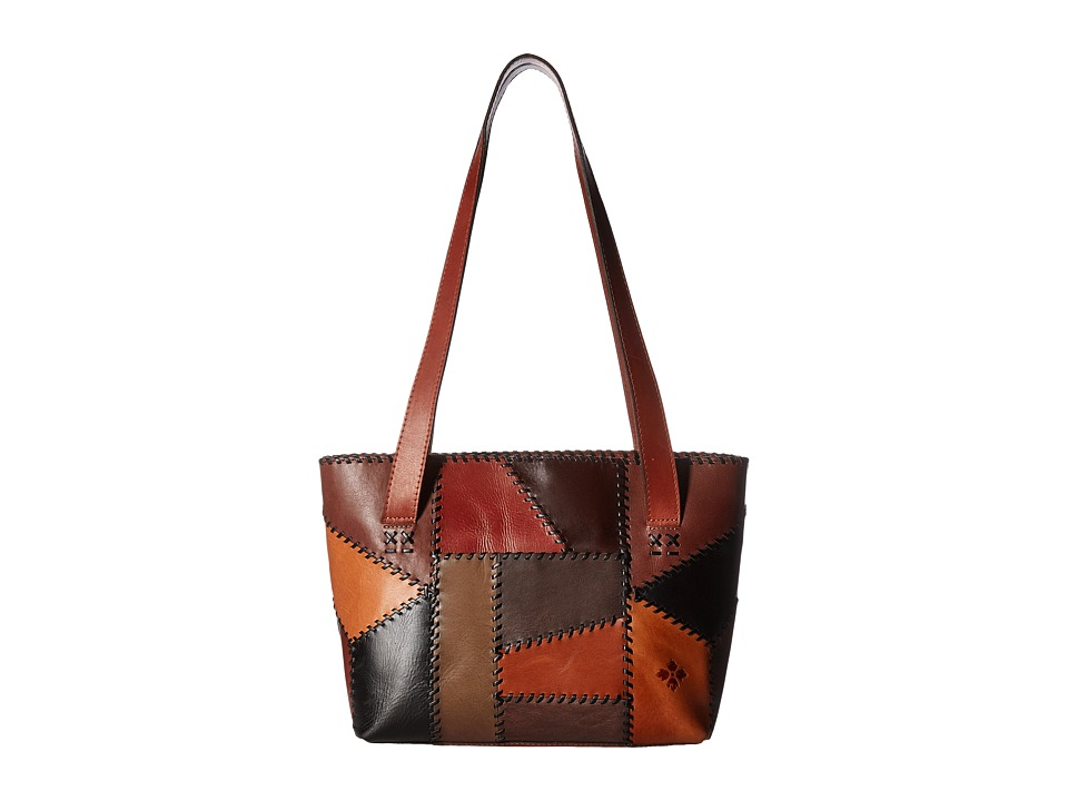 Patricia Nash - Nevoso Double Zip Tote (Patchwork Chocolate) Tote Handbags