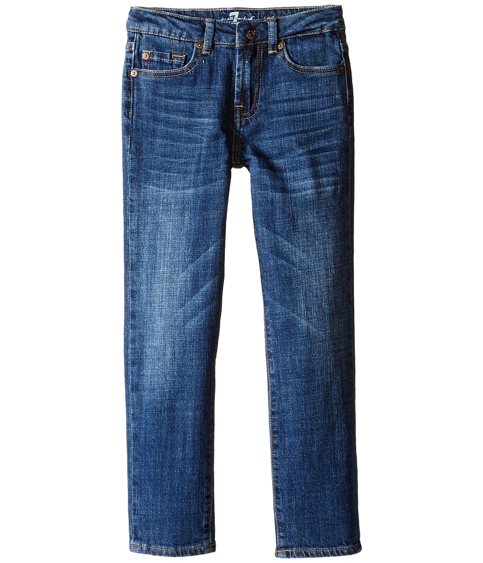 7 For All Mankind Kids - Standard Vintage Straight Leg Denim Jeans in White (Little Kids/Big Kids) (White) Boy's Jeans