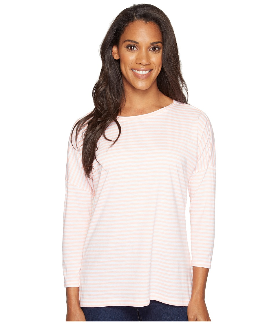 Columbia - Harborside 3/4 Sleeve Shirt (Tiki Pink Stripe/Cirrus Grey) Women's Long Sleeve Pullover