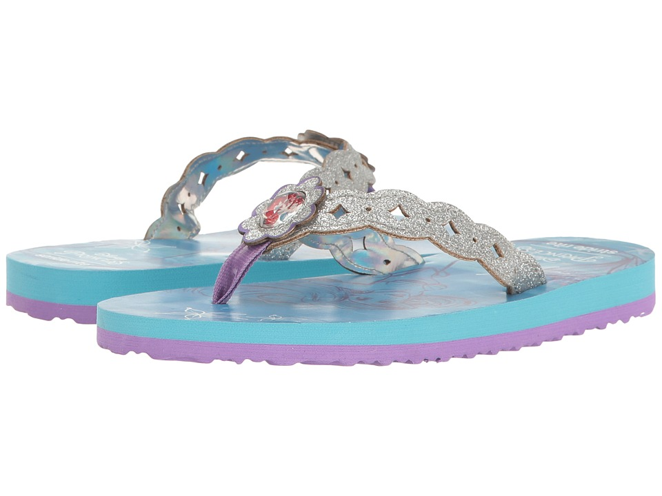 Stride Rite - Disney Ariel EVA (Toddler/Little Kid) (Silver/Blue) Girl's Shoes