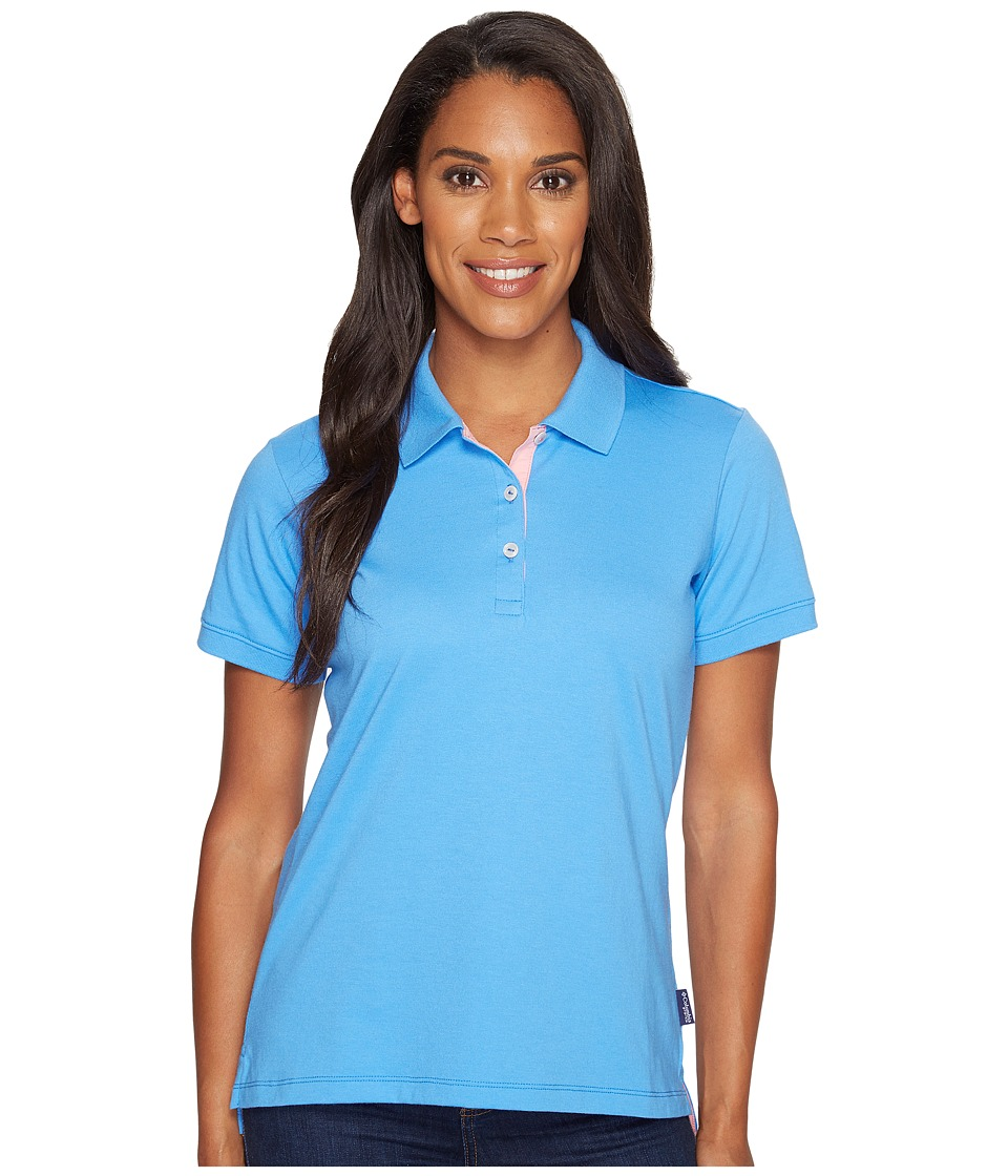 Columbia - Harborside Polo (Harbor Blue/Lollipop) Women's Short Sleeve Pullover