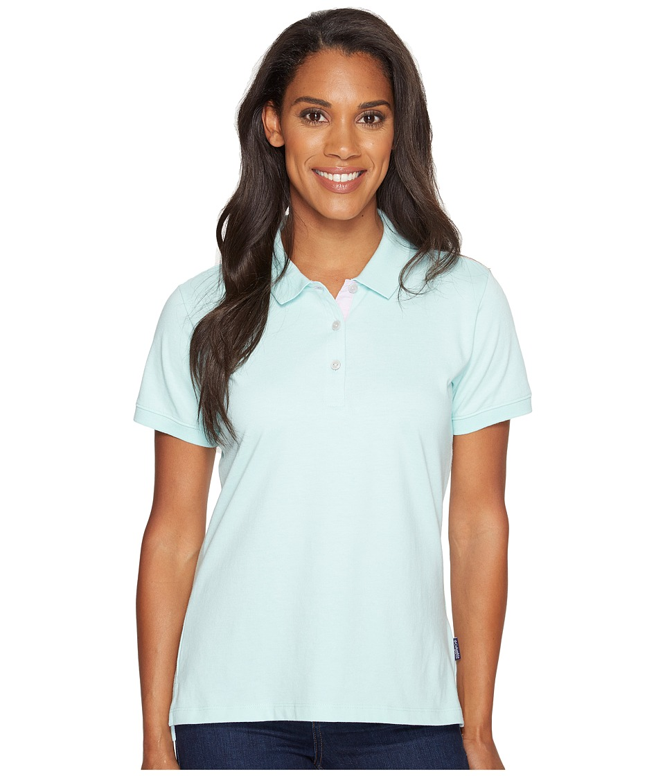 Columbia - Harborside Polo (Blueglass/Phantom Purple) Women's Short Sleeve Pullover