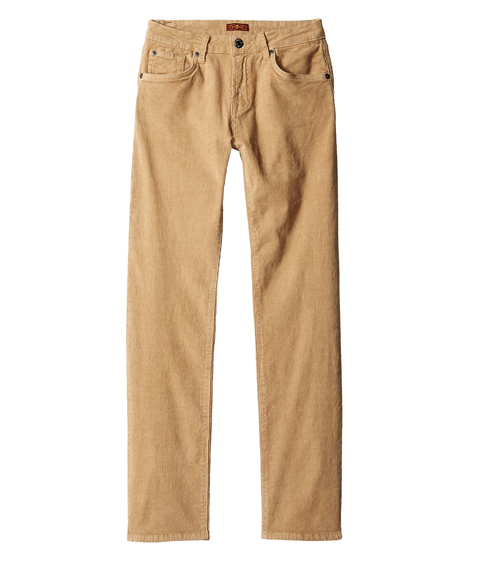 7 For All Mankind Kids - Slimmy Slim Straight Stretch Corduroy Jeans in Khaki (Big Kids) (Khaki) Boy's Jeans