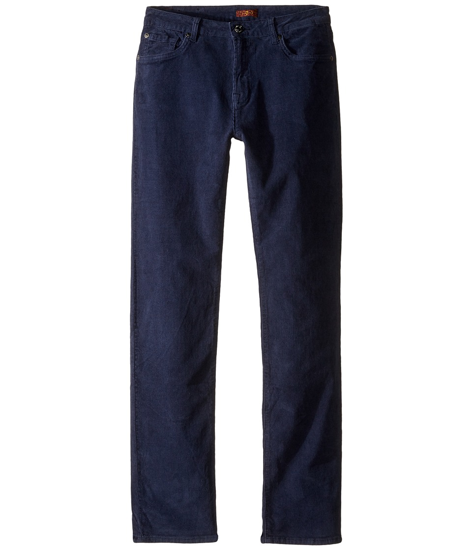 7 For All Mankind Kids - Slimmy Slim Straight Stretch Corduroy Jeans in Navy (Big Kids) (Navy) Boy's Jeans