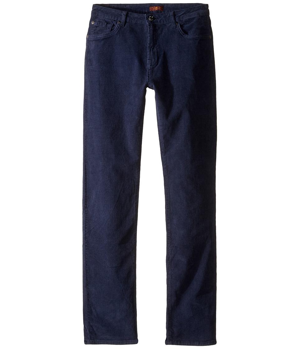 7 For All Mankind Kids - Slimmy Slim Straight Stretch Corduroy Jeans in Navy (Big Kids) (Navy) Boy's Jeans