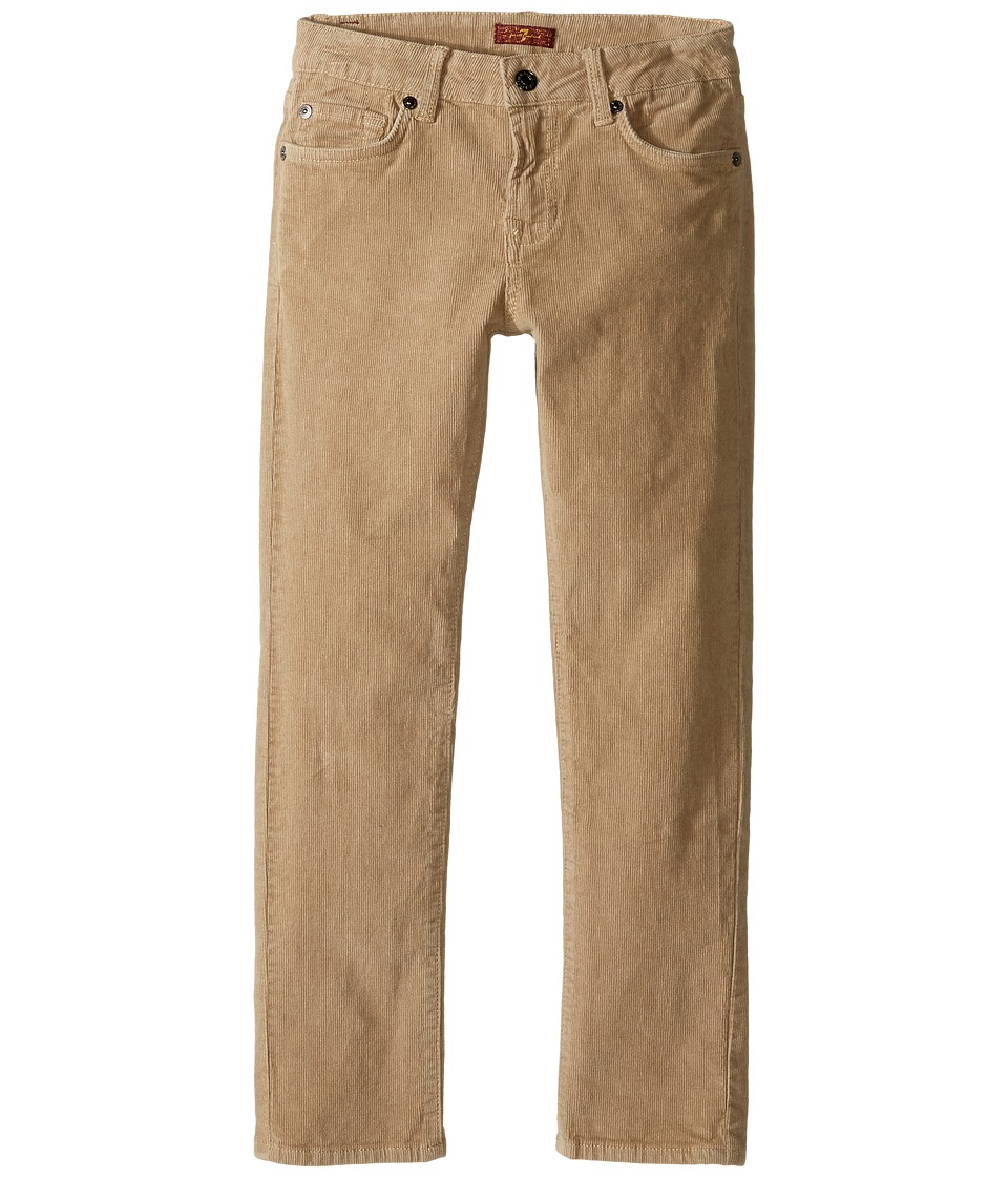 7 For All Mankind Kids - Slimmy Slim Straight Stretch Corduroy Jeans in Khaki (Little Kids/Big Kids) (Khaki) Boy's Jeans
