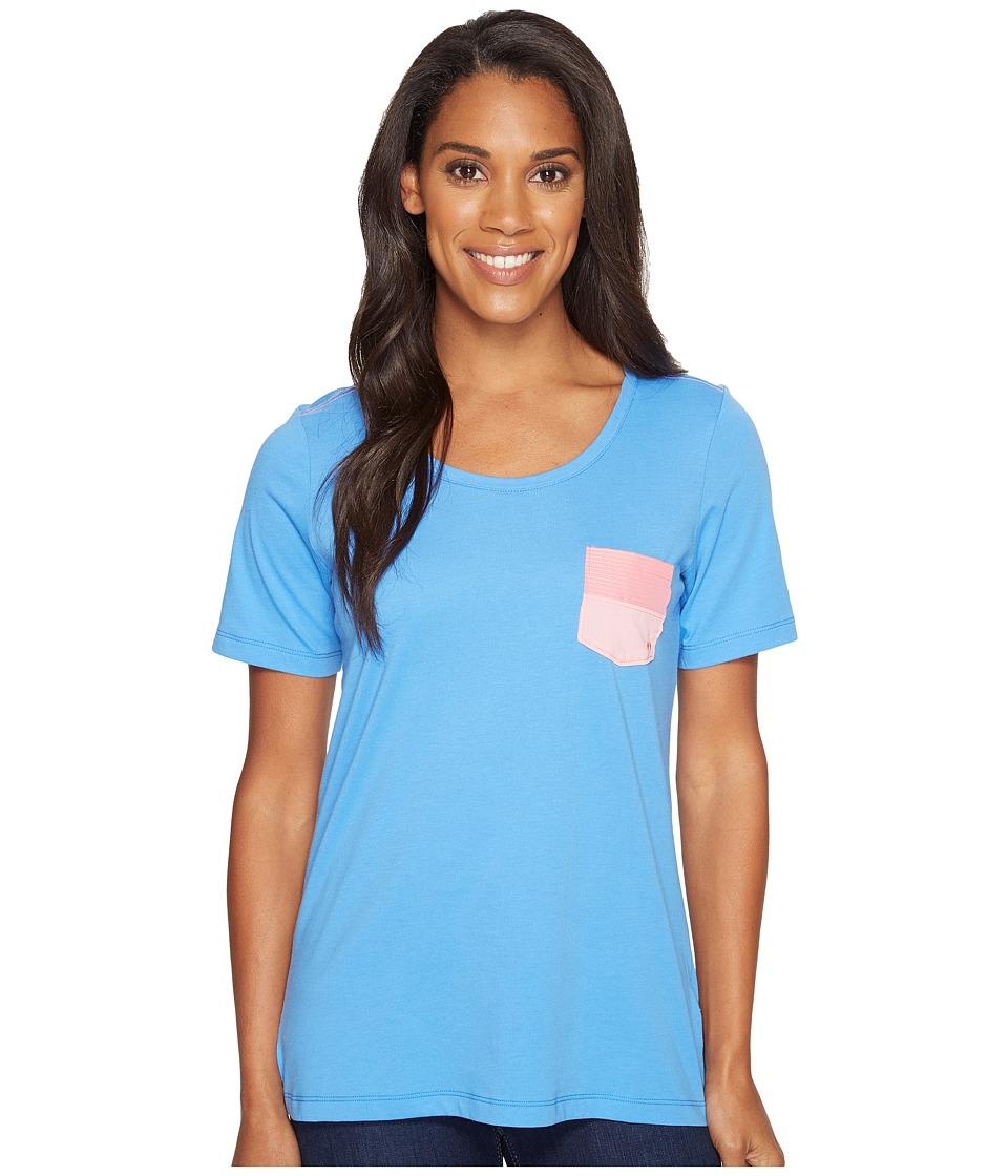 Columbia - Harborside Pocket Tee (Harbor Blue/Lollipop Dotty) Women's Short Sleeve Pullover