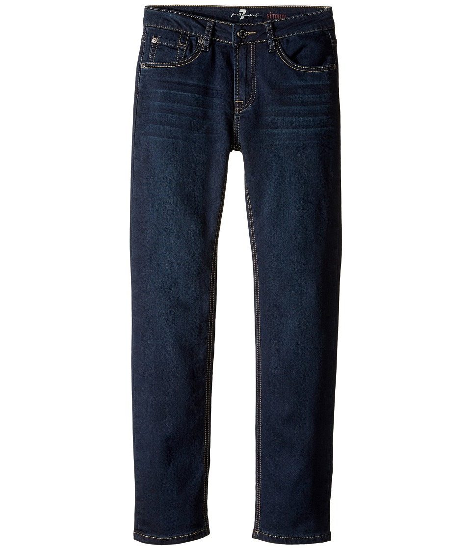 7 For All Mankind Kids - Slimmy Slim Straight Knit Denim Jeans in Park Avenue (Big Kids) (Park Avenue) Boy's Jeans