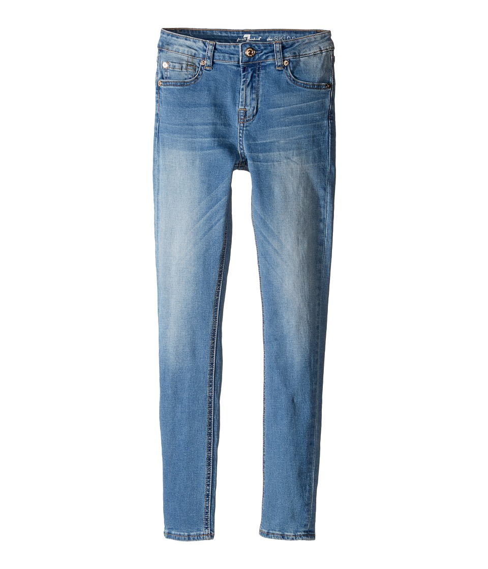 7 For All Mankind Kids - The Skinny Five-Pocket Stretch Denim Jeans in Vivid Authentic Blue (Big Kids) (Vivid Authentic Blue) Girl's Jeans