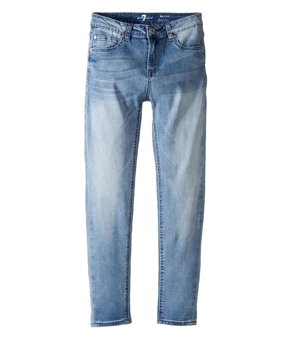 7 For All Mankind Kids - The Ankle Skinny Five-Pocket Stretch Denim Jeans in Light Blue (Big Kids) (Light Blue) Girl's Jeans