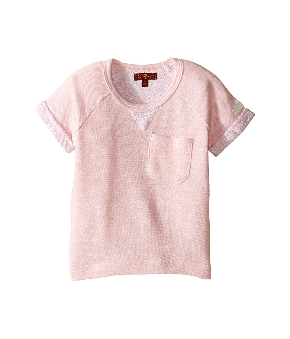 7 For All Mankind Kids - Marled French Terry Top (Little Kids) (Coral Blush) Girl's Clothing
