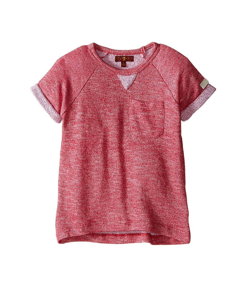7 For All Mankind Kids - Marled French Terry Top (Little Kids) (Merlot) Girl's Clothing