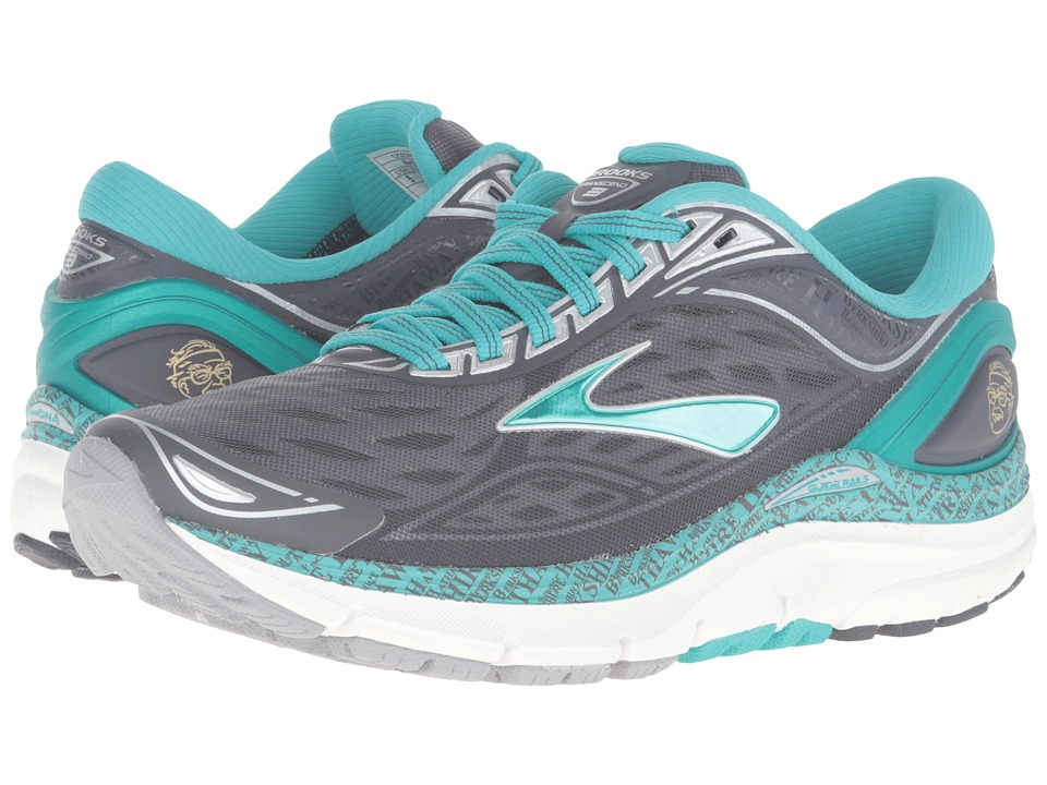 Brooks - Transcend 3 (Anthracite/Ceramic/Silver/Gold) Women's Running Shoes