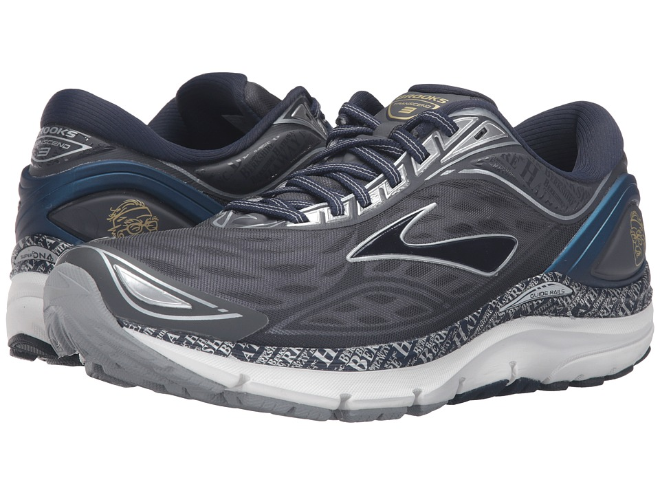 Brooks - Transcend 3 (Anthracite/Peacoat/Silver/Blue) Men's Running Shoes