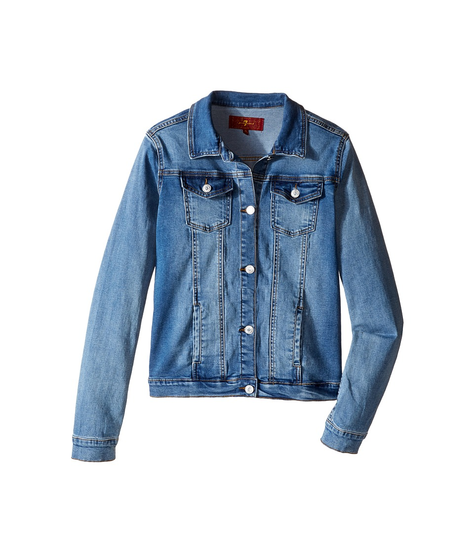 7 For All Mankind Kids - Stretch Denim Jacket (Big Kids) (Nirvana) Girl's Coat