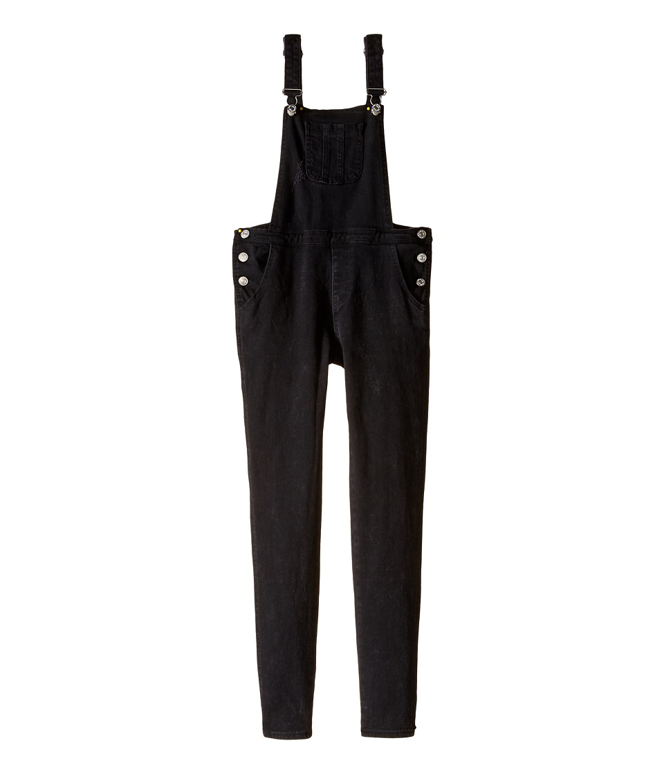 7 For All Mankind Kids - Stretch Denims Overall in Beat Up Black (Big Kids) (Beat Up Black) Girl's Overalls One Piece