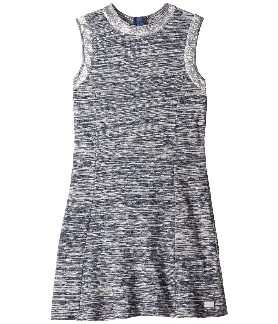 7 For All Mankind Kids - Slub Sweater Knit Dress (Big Kids) (Heather Navy) Girl's Dress