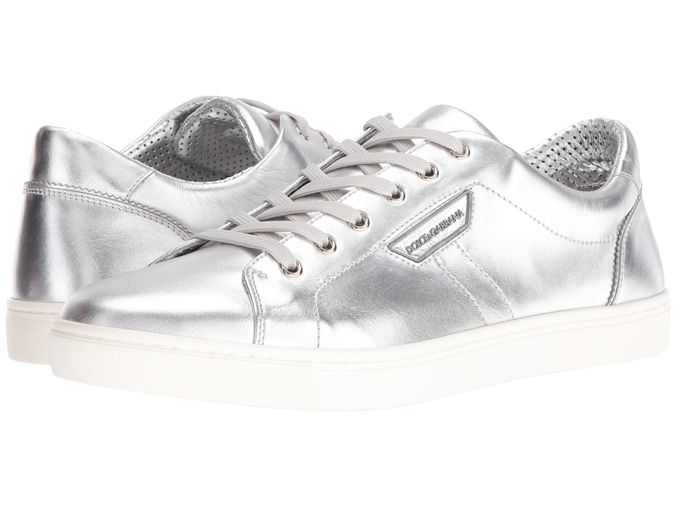 Dolce & Gabbana - London Metallic Sneaker (Silver) Men's Shoes