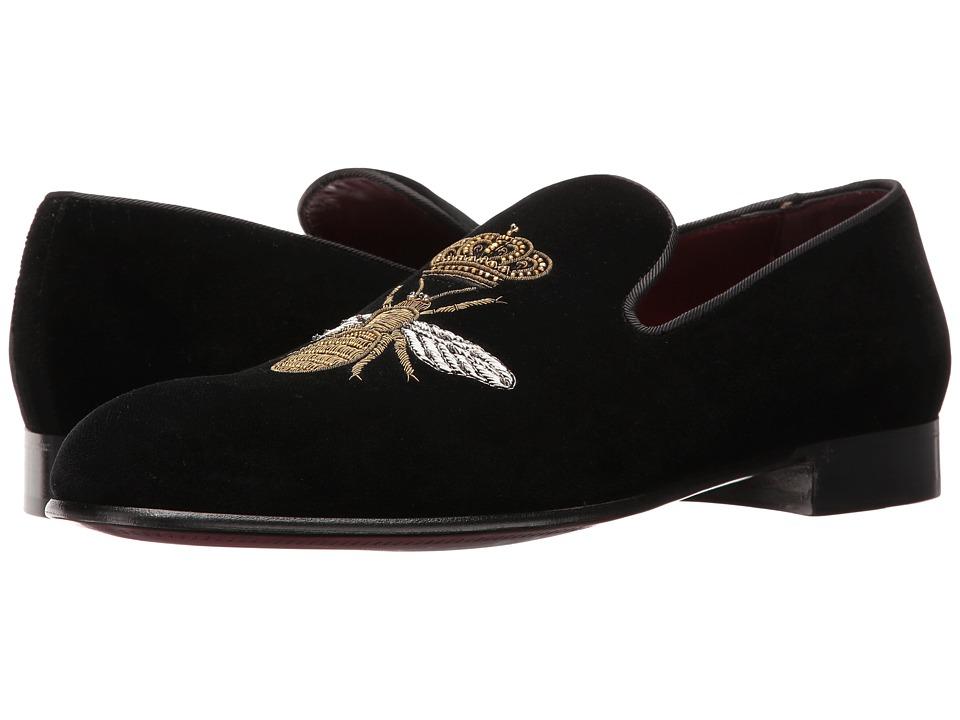 Dolce & Gabbana - Velvet Evening Loafer (Black) Men's Slip on Shoes