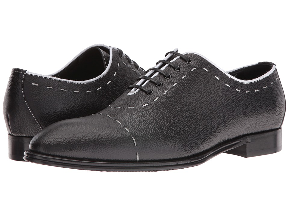 Dolce & Gabbana - Top Stitch Oxford (Black/White) Men's Lace up casual Shoes