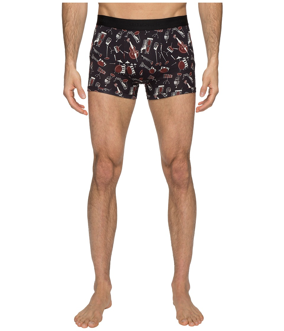 Dolce & Gabbana - Jazz Instruments Boxer Brief (Black) Men's Underwear