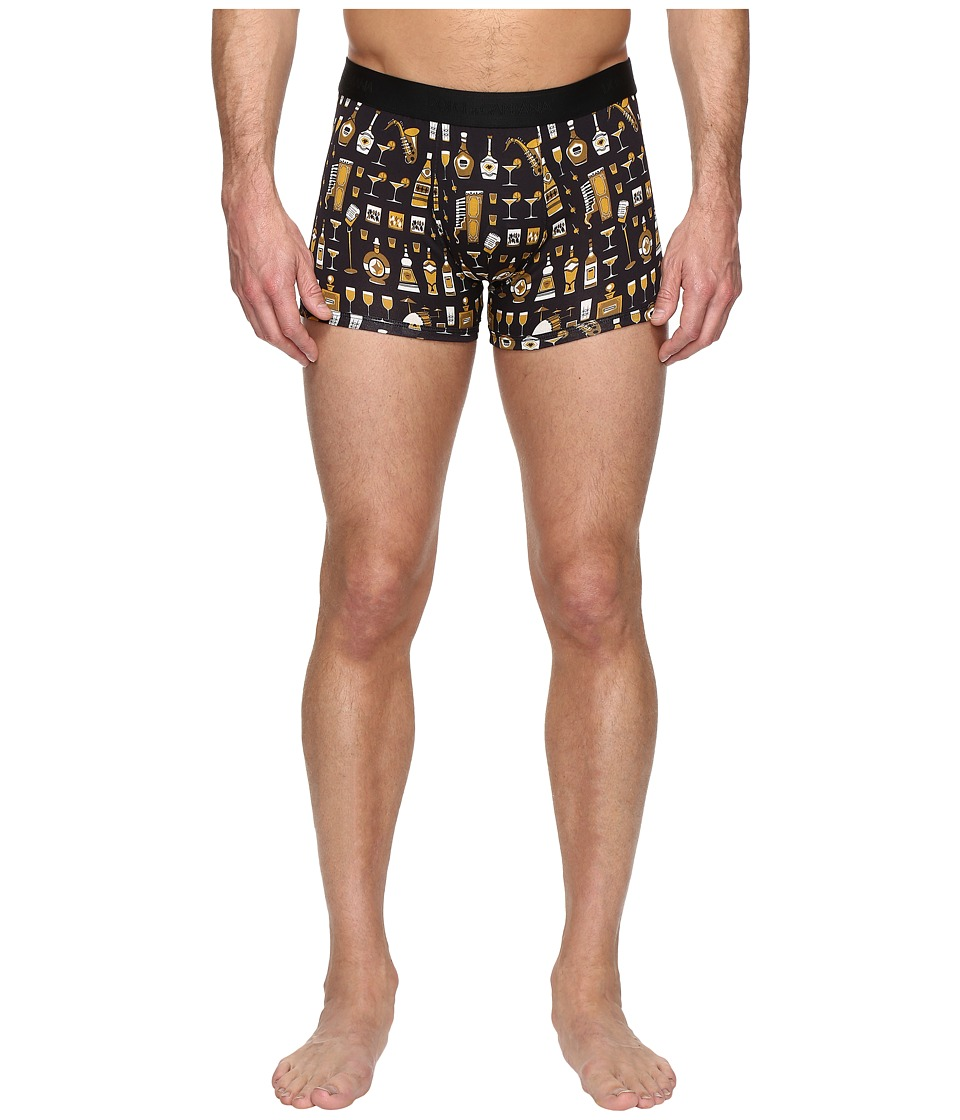 Dolce & Gabbana - Jazz Club Boxer Brief (Black) Men's Underwear