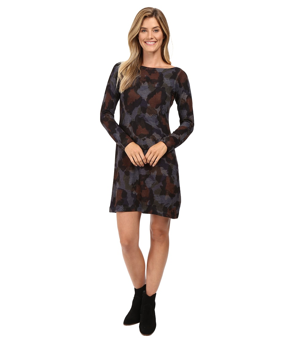 Nally & Millie Leopard Paint Long Sleeve Dress (Multi) Women