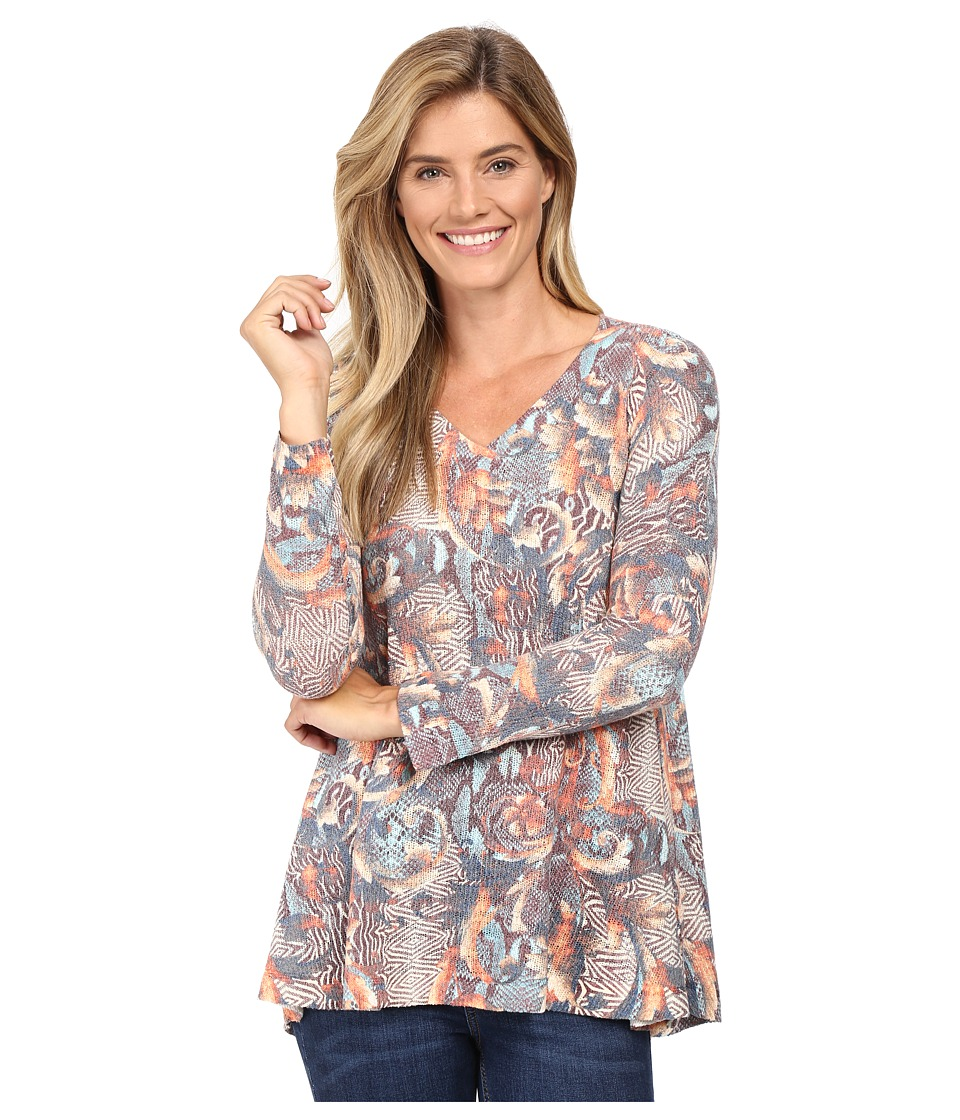 Nally & Millie - Abstract Animal Print Tunic (Multi) Women's Blouse