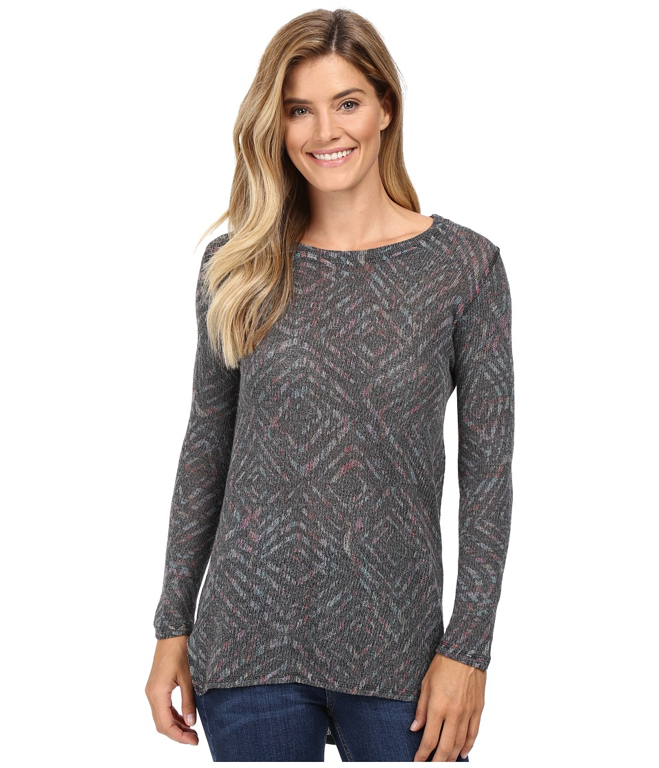 Nally & Millie - Long Sleeve Shirt Tail Sweater (Multi) Women's Sweater