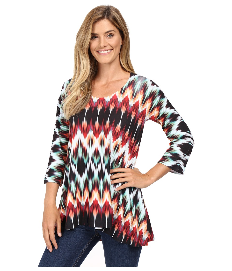 Nally & Millie - Tribal Print Tunic (Multi) Women's Blouse