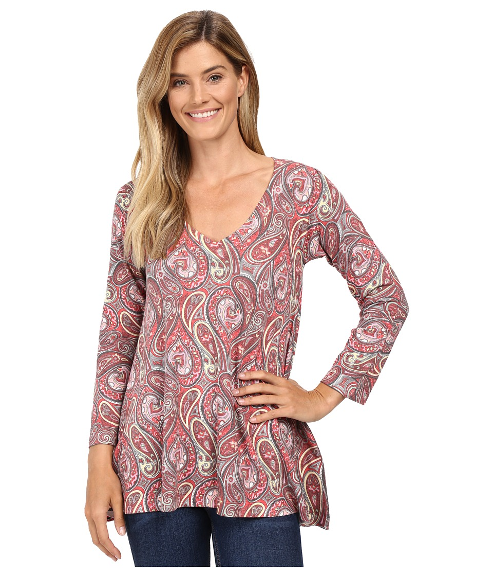Nally & Millie - Red Paisley Tunic (Multi) Women's Blouse