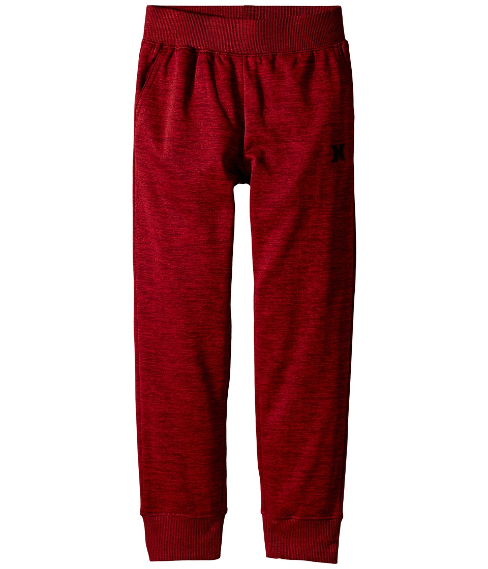Hurley Kids - Drifit Pants (Little Kids) (Night Maroon Space Dyed Heather) Boy's Casual Pants