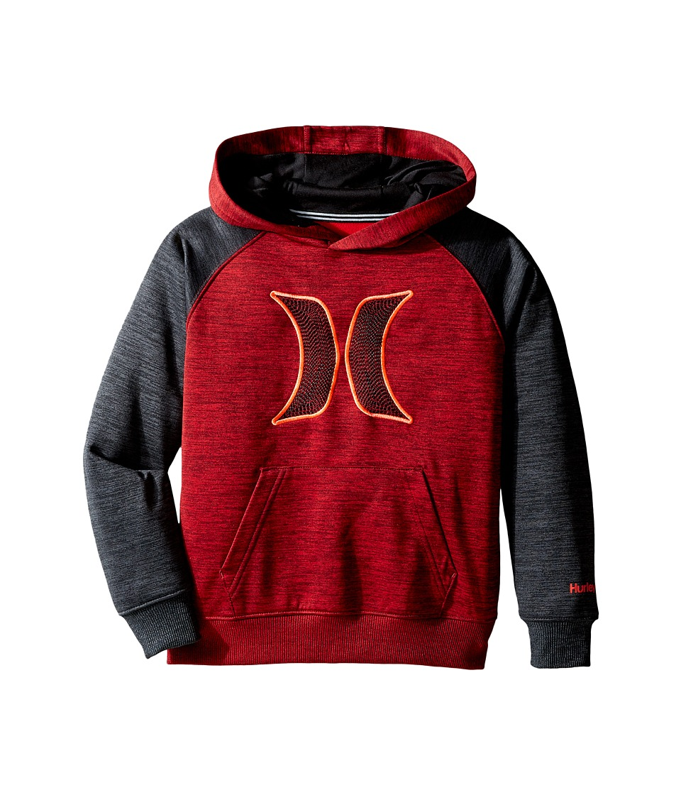 Hurley Kids - Therma Fit Space Pullover (Little Kids) (Night Maroon Space Dyed Heather) Boy's Clothing