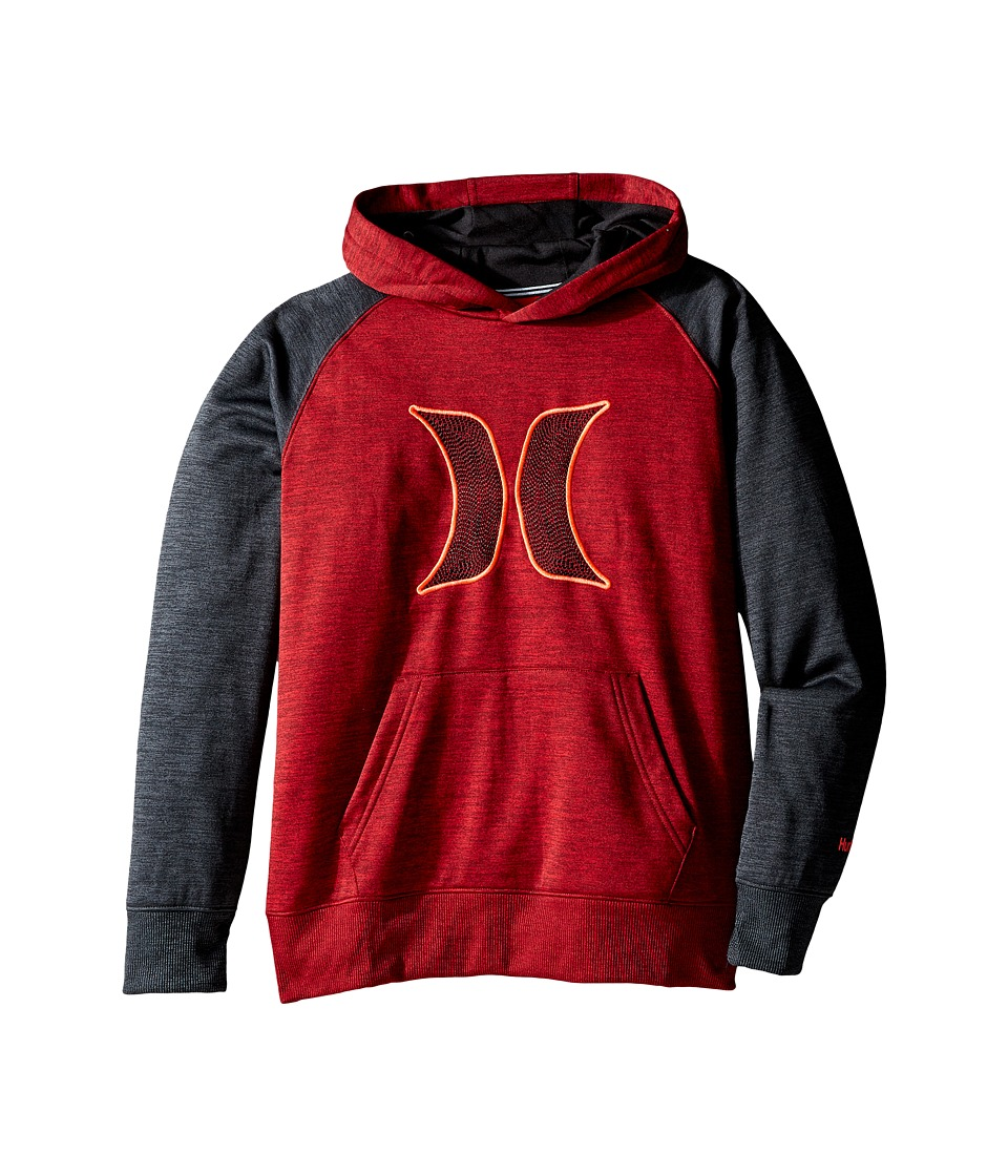 Hurley Kids - Therma Fit Space Pullover (Big Kids) (Night Maroon Space Dyed Heather) Boy's Clothing