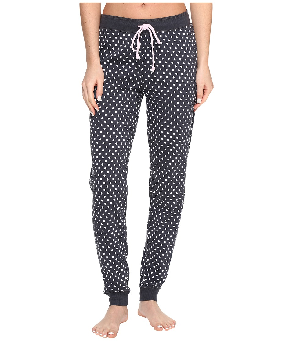 P.J. Salvage - Polka Dot Jogger PJ Pants (Smoke) Women's Pajama