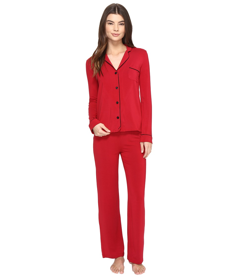 P.J. Salvage - Be Love PJ Set with Eyemask (Ruby) Women's Pajama Sets