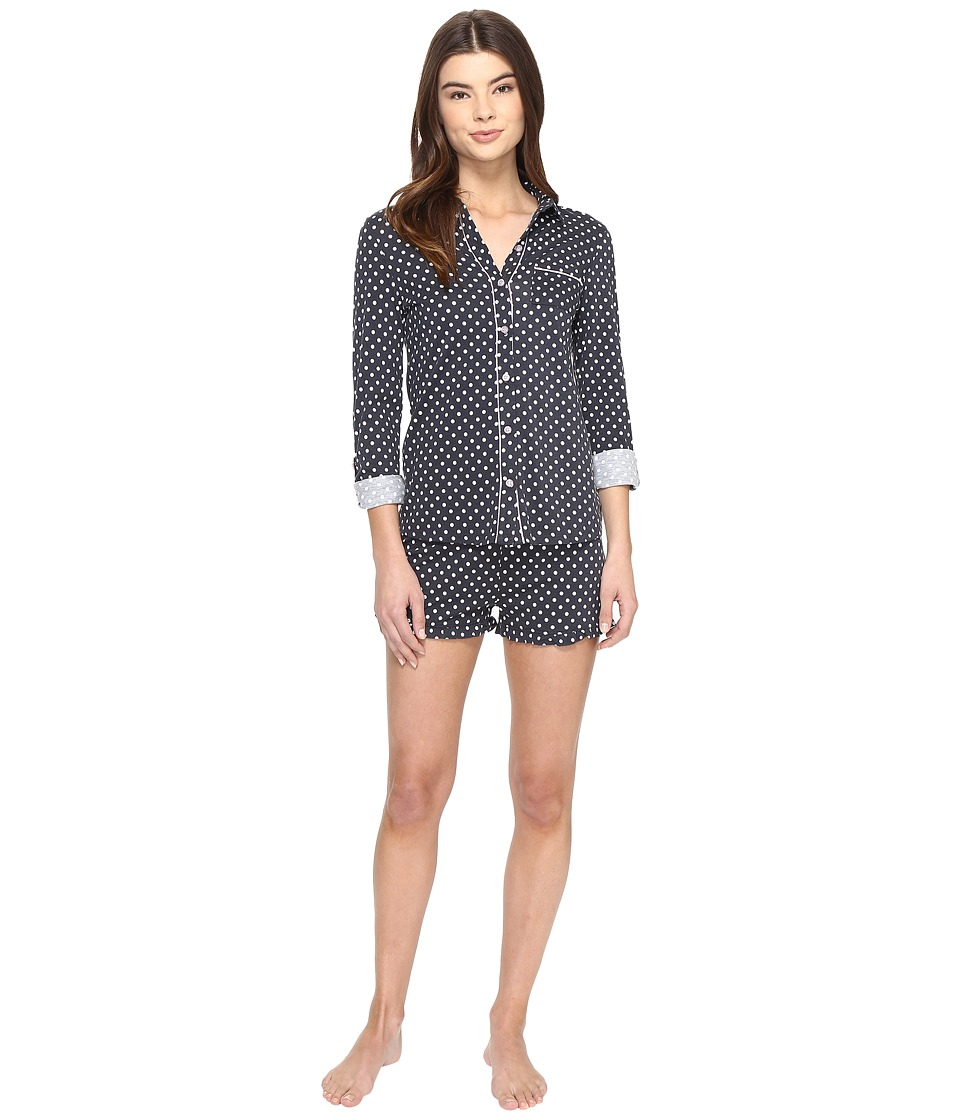 P.J. Salvage - Polka Dot PJ Shorty Set (Smoke) Women's Pajama Sets