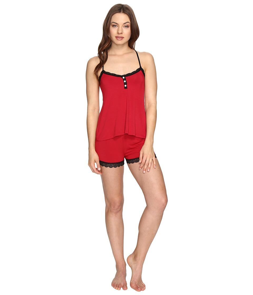 P.J. Salvage - Be Love Basic PJ Short Set (Ruby) Women's Pajama Sets