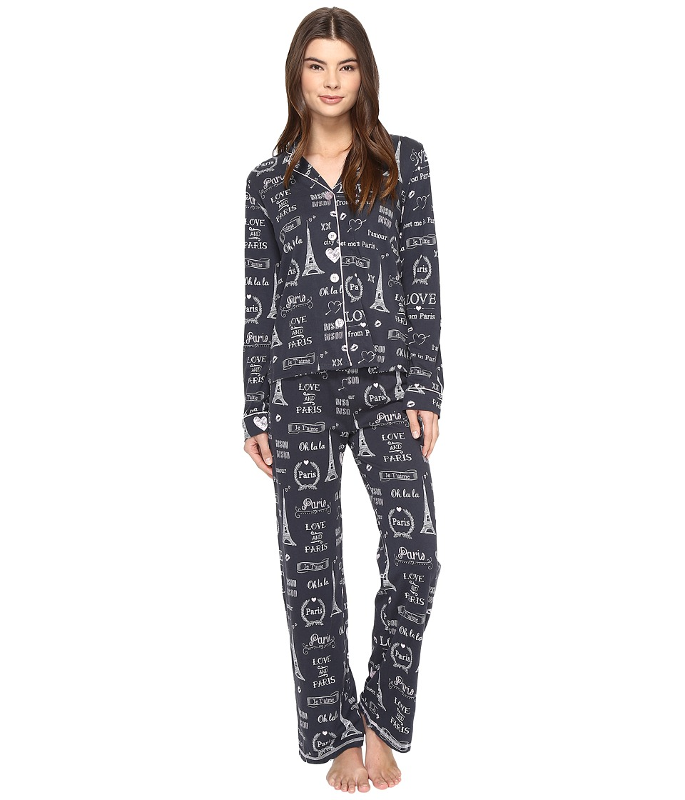 P.J. Salvage - City of Love Paris PJ Set (Smoke) Women's Pajama Sets
