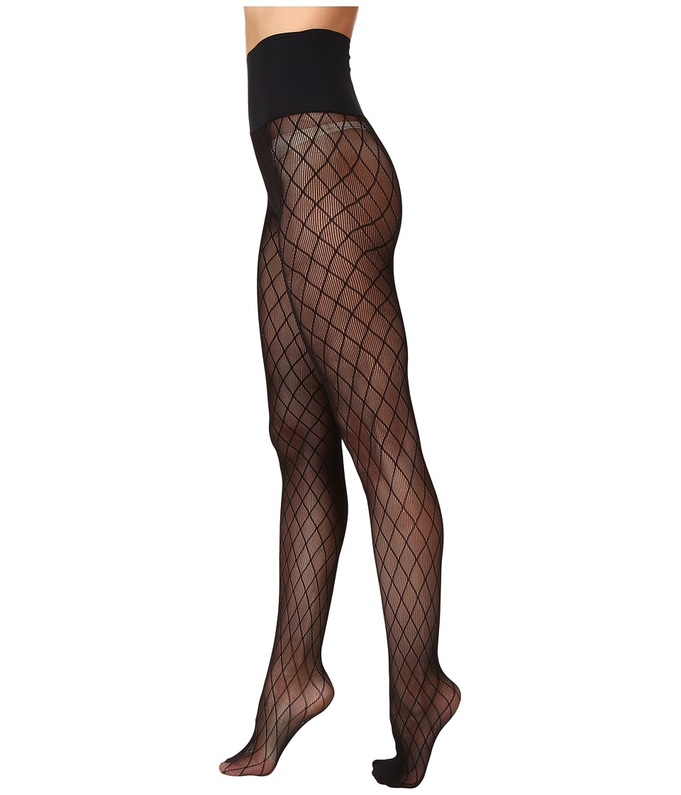 Commando - Diamond Rib Net Tights HN020 (Black) Hose