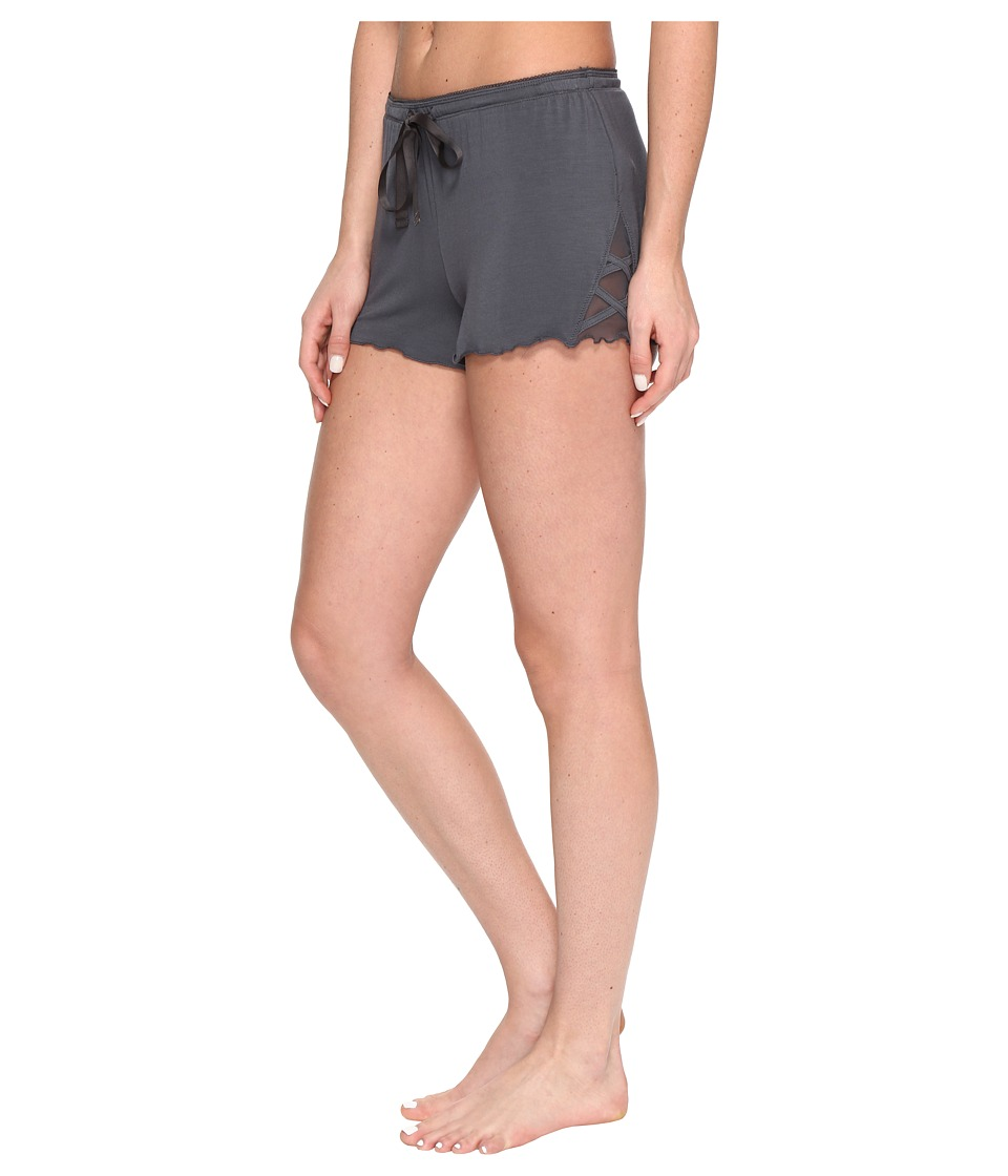 P.J. Salvage - All Tied Up PJ Shorts (Charcoal) Women's Pajama