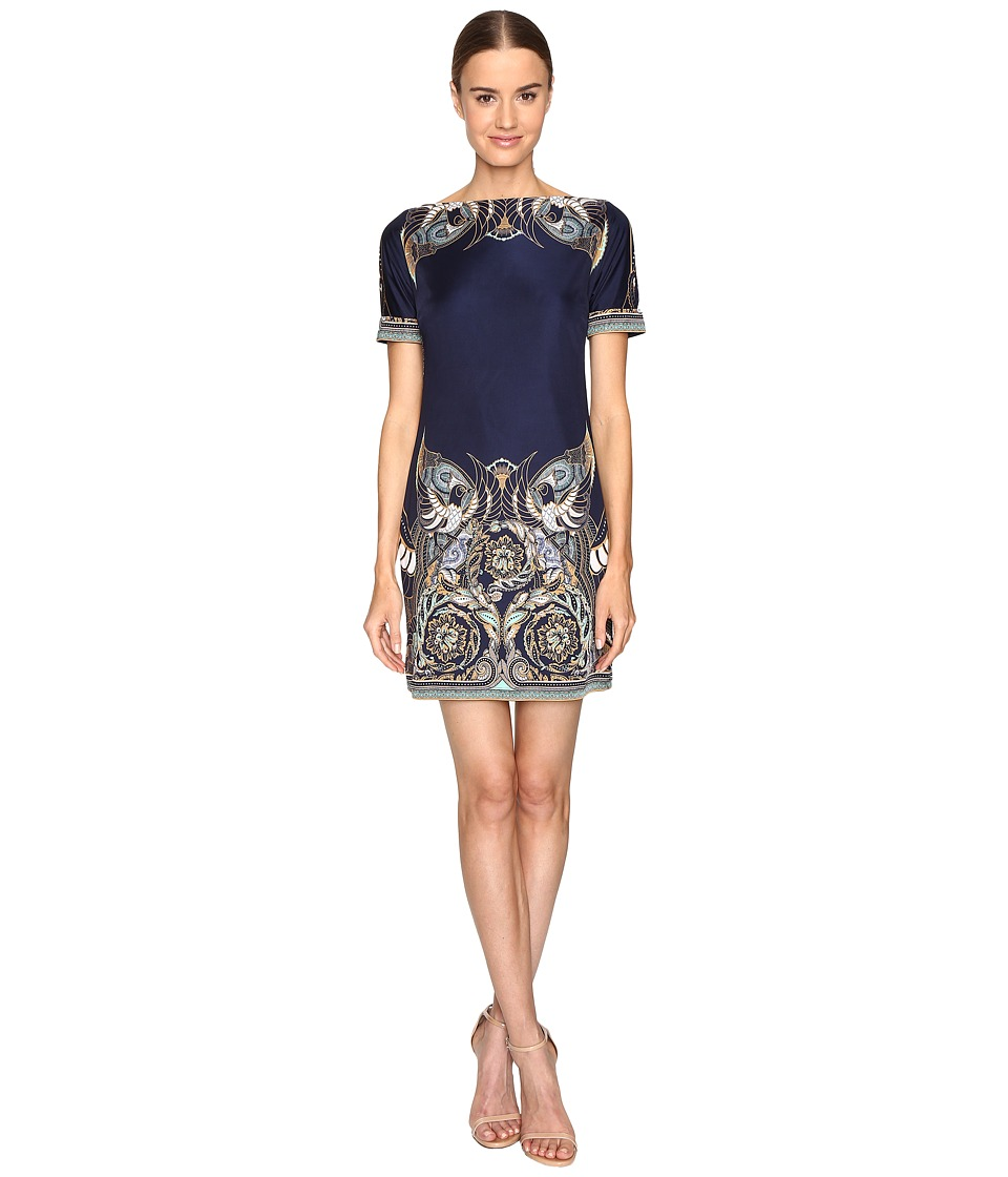 Versace Collection - Jersey Dress (Blue/Stampa) Women's Dress
