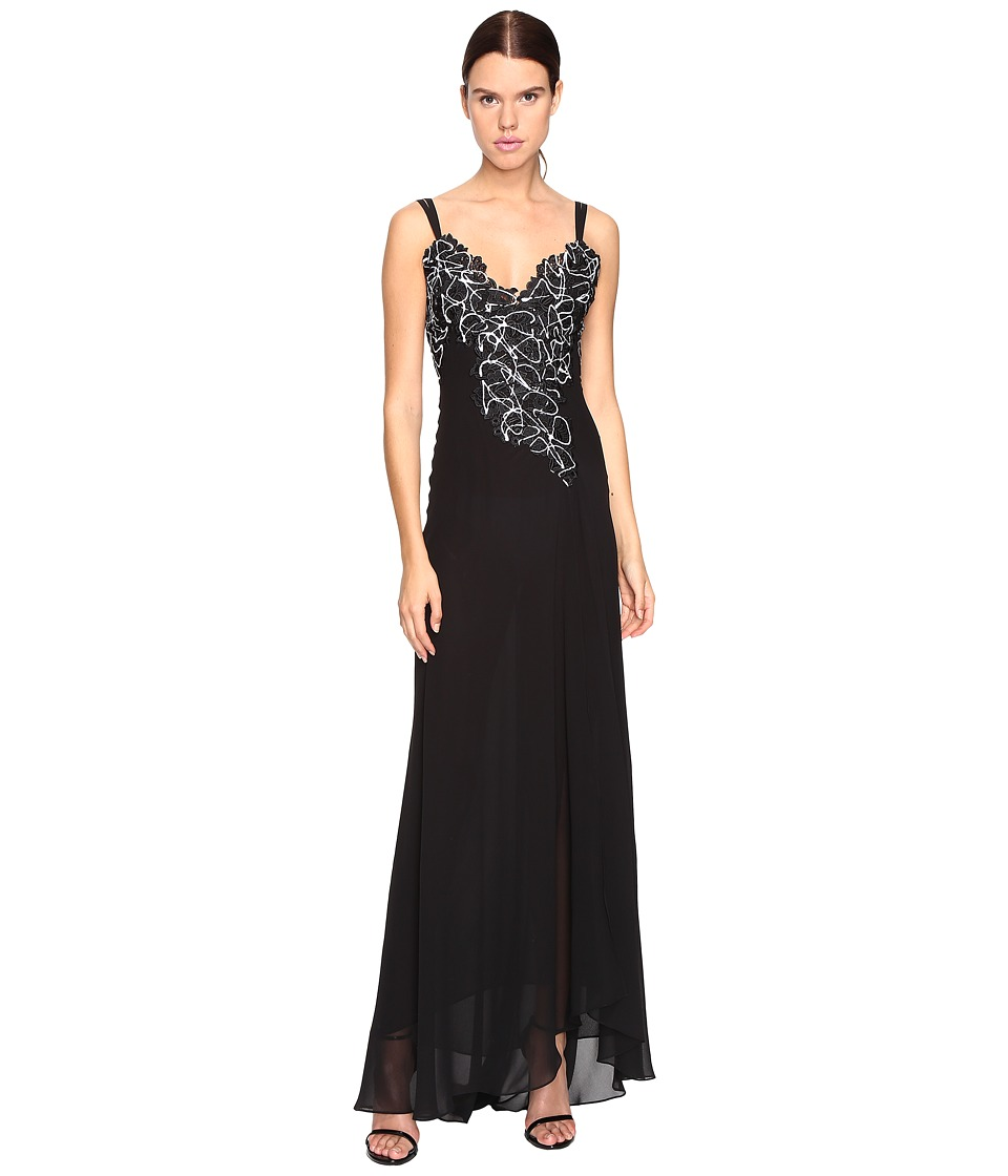 Versace Collection - Long Evening Gown (Nero) Women's Dress