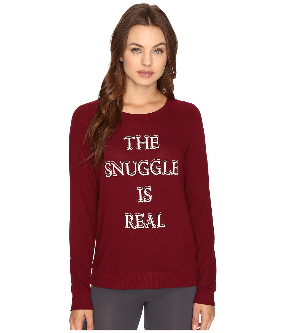 P.J. Salvage - The Snuggle Sweatshirt (Wine) Women's Pajama