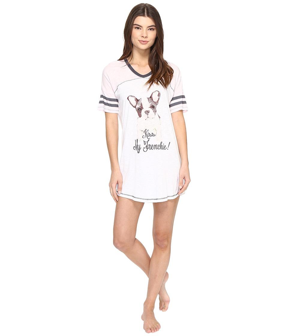P.J. Salvage - Kiss My Frenchie Sleepshirt (Ivory) Women's Pajama