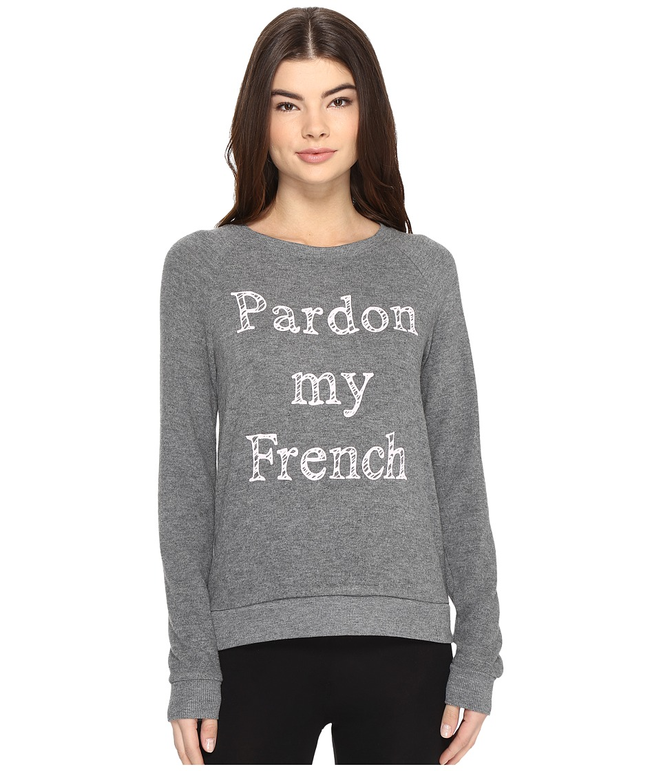 P.J. Salvage - Pardon My French Sweatshirt (Charcoal) Women's Pajama